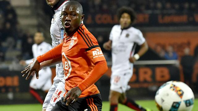 French club Lorient say two clubs are currently interested in the services of the Ghana striker with two weeks to the end of the transfer window