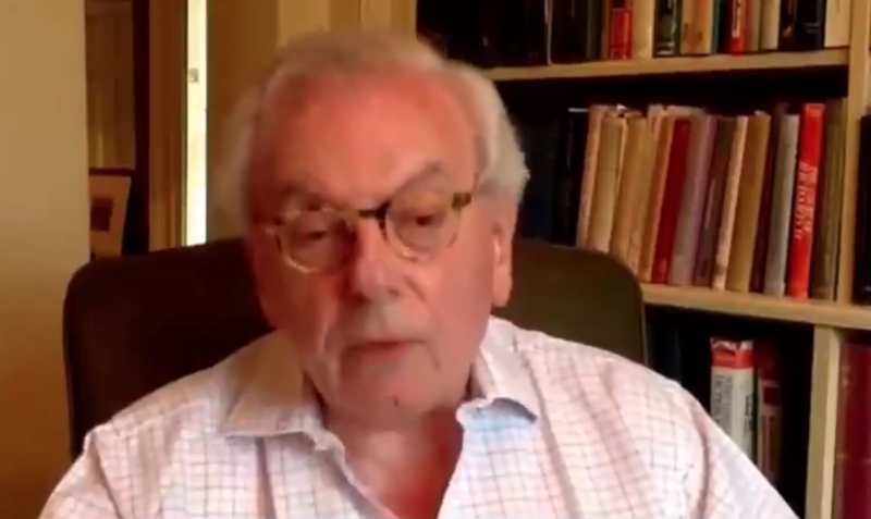 "David Starkey has been condemned for making ""appalling"" and ""racist"" comments during an interview about slavery. (Twitter)"