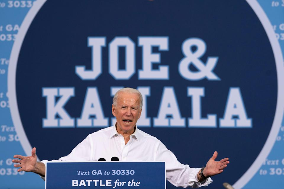 <p>Joe Biden on the trail in Atlanta, Georgia</p> (Getty Images)