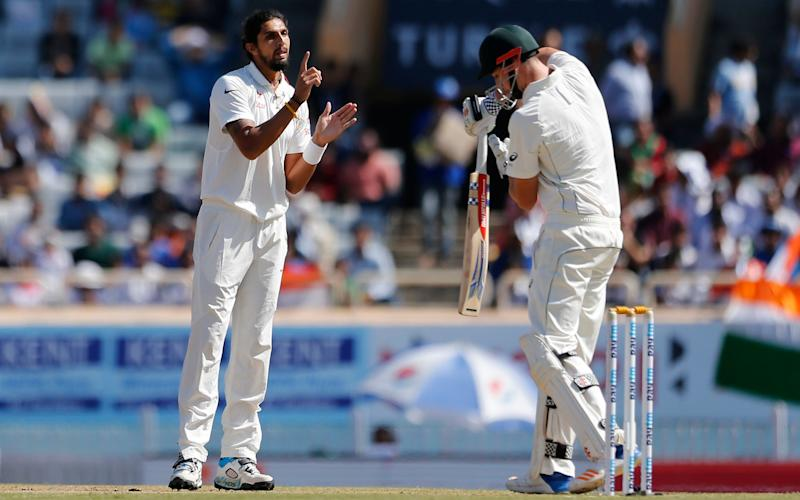 Ishant Sharma was in fiery form for India  - Credit: AP