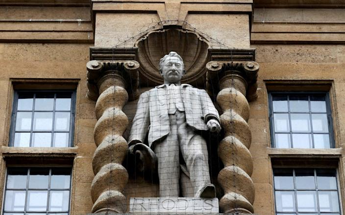 The statue of Cecil Rhodes outside Oriel College, Oxford - Eddie Keogh/Reuters