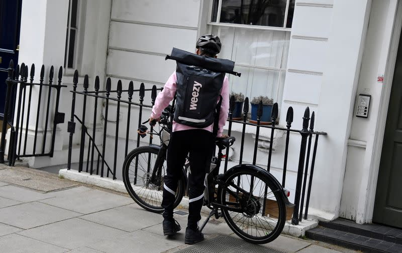 Groceries processed and delivered by online supermarket Weezy in London