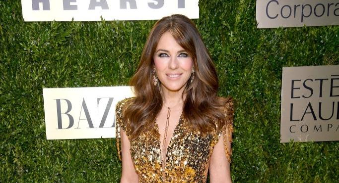 Liz Hurley has transformed into a sexy ninja for a fancy dress party with friends [Image: Getty]