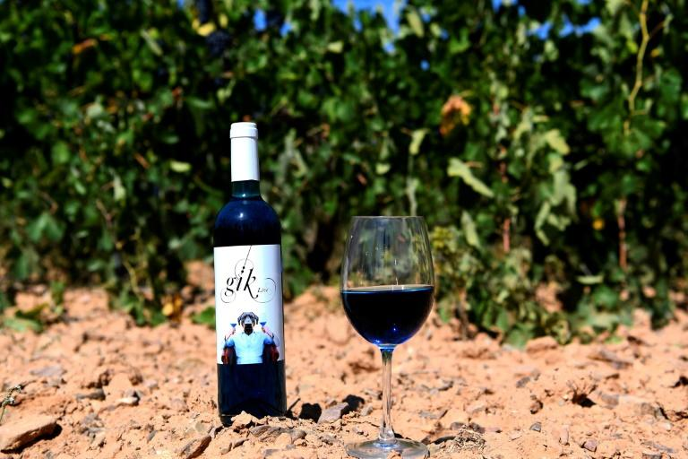 """Electric blue in colour, the wine is made of mainly white wine with a small amount of red and a tiny bit of freshly-crushed grape juice, with the colour coming from two pigments The blue colour is obtained via a mix of """"nature and technology"""" using two pigments -- anthocyanin, found in the skin of red grapes, and indigo carmine"""
