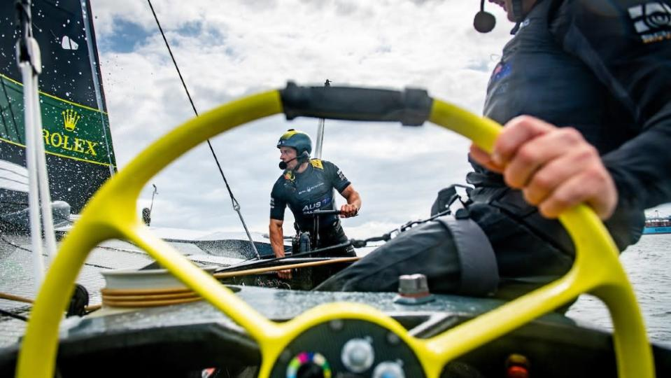 Smaller teams and much faster speeds require quicker reactions and a higher level of athleticism than other forms of competitive sailing. - Credit: Courtesy SailGP