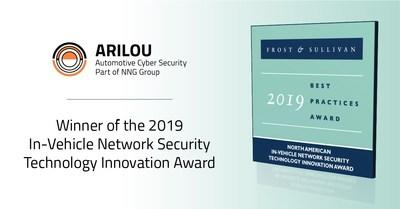 Arilou Automotive Cyber Security Awarded Frost & Sullivan's 2019 Best Practices Award for Technology Innovation.