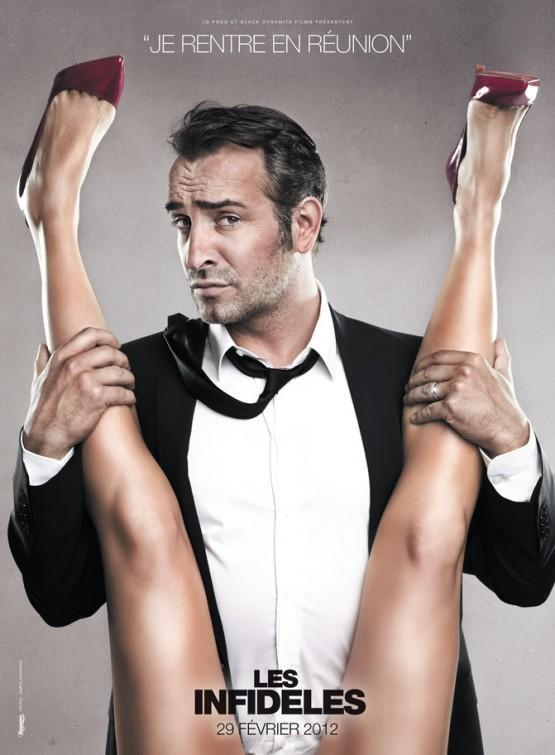 <p><b>Why it was banned: </b>Golden boy Jean Dujardin was on the home stretch of Oscar season, cruising to a Best Actor win for 'The Artist', when this poster for his new French-language comedy threatened to derail his campaign. As audiences cried 'Le sexism!' the posters were quietly taken down by the French advertising regulators. He won anyway.</p>