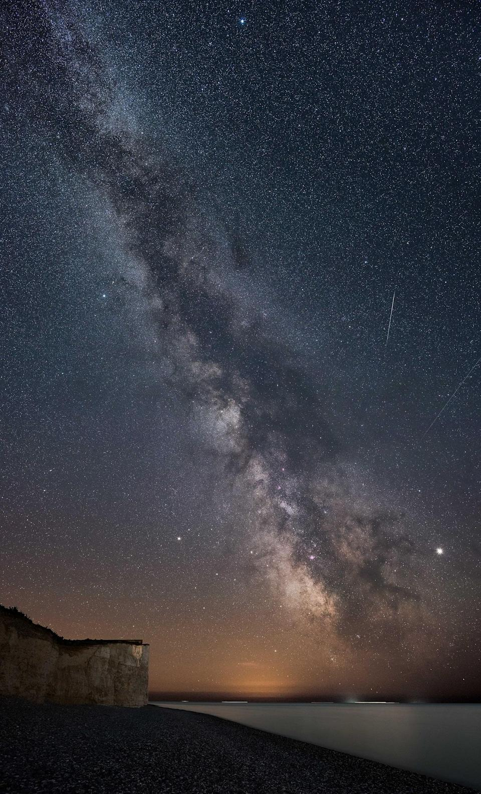 Second place was awarded to Milky Way at Birling Gap by John Fox (John Fox/PA)