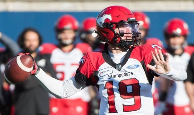 Calgary Stampeders quarterback Bo Levi Mitchell is seen during a game against the Montreal Alouettes in 2019. (Graham Hughes/The Canadian Press - image credit)