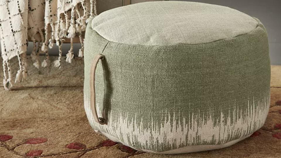 This cozy pouf is calling your name.