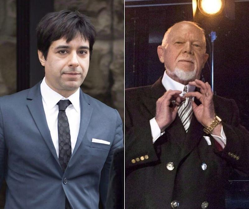 "A composite image showing former CBC ""Q"" host Jian Ghomeshi and former ""Coach's Corner"" host Don Cherry. (Photo: The Canadian Press)"
