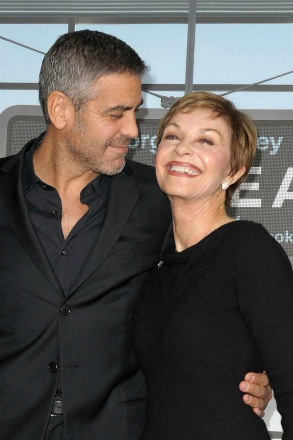 """<p>George and his mom, Nina Warren, looked like <a href=""""https://www.redbookmag.com/life/friends-family/g2280/celebrity-best-friends/"""" rel=""""nofollow noopener"""" target=""""_blank"""" data-ylk=""""slk:BFFs"""" class=""""link rapid-noclick-resp""""><u>BFFs</u></a> on the red carpet for his 2009 premiere of <em>Up in the Air</em>.</p>"""