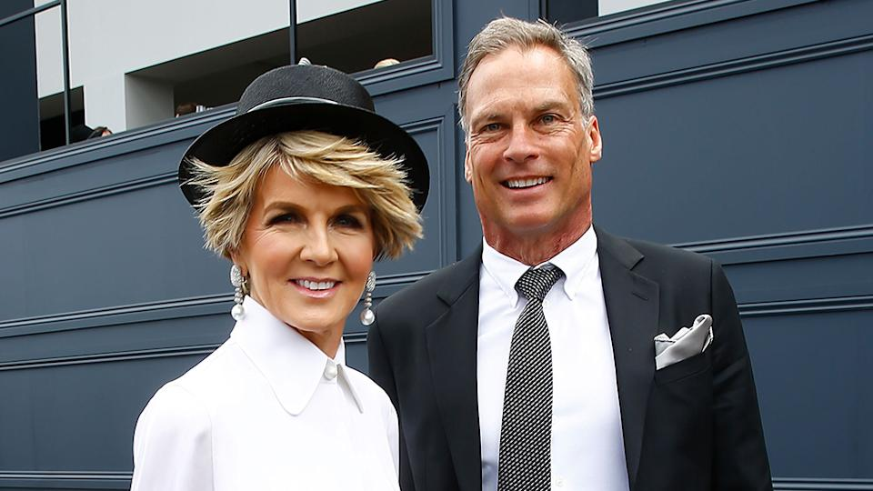 Like many other Australians, former Foreign Minister Julie Bishop has revealed the heartache of being separated from her partner due to coronavirus border restrictions between WA and NSW. Photo: Getty