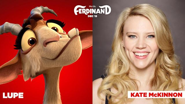 Kate McKinnon and her <em>Ferdinand</em> character, Lupe. (Photo: 20th Century Fox Film Corp c/o Everett Collection)