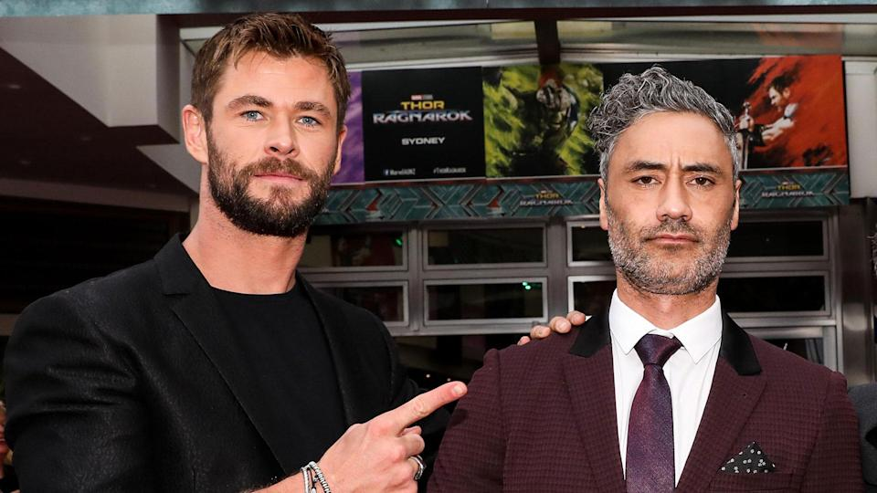 Chris Hemsworth and Taika Waititi attend the <i>Thor: Ragnarok</i> Sydney Screening Event on October 15, 2017 in Sydney, Australia. (Photo by Mark Metcalfe/Getty Images for Disney)