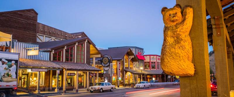 Wyoming collects sales taxes. Jackson Hole, WY