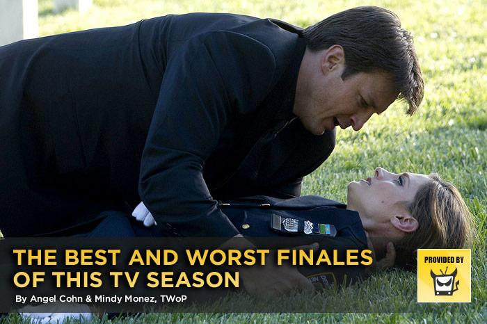 "No television fan wants their favorite shows to go off the air for the summer (or forever), but a good season or series finale can at least provide enough surprises, resolutions, and tantalizing teases to make it all worthwhile. On the other hand, a weak finale makes us wonder why we bothered watching in the first place. Here's our look at the best and worst ways TV's biggest shows wrapped up this year. — <a href=""http://www.televisionwithoutpity.com/"" rel=""nofollow"">Television Without Pity</a>"