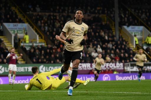 Anthony Martial scored the only goal in Manchester United's 1-0 win at Burnley