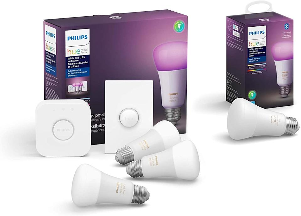 Philips Hue smart light bulbs