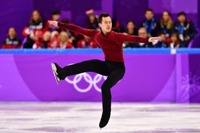 Canada's Patrick Chan bows out of the rink