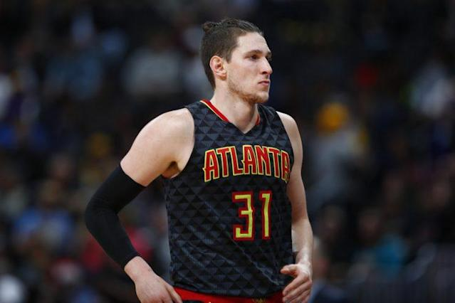 "<a class=""link rapid-noclick-resp"" href=""/nba/players/5214/"" data-ylk=""slk:Mike Muscala"">Mike Muscala</a> has played four seasons with the Hawks. (AP)"