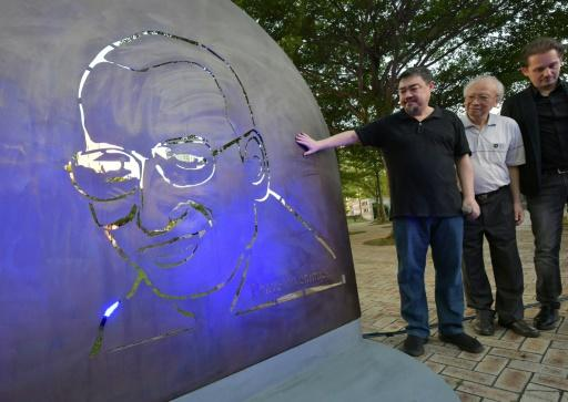 Activists led by exiled Chinese dissident Wu'er Kaixi unveiled a three-part sculpture in a Taipei park which included an etched bronze image of Liu Xiaobo and an empty chair