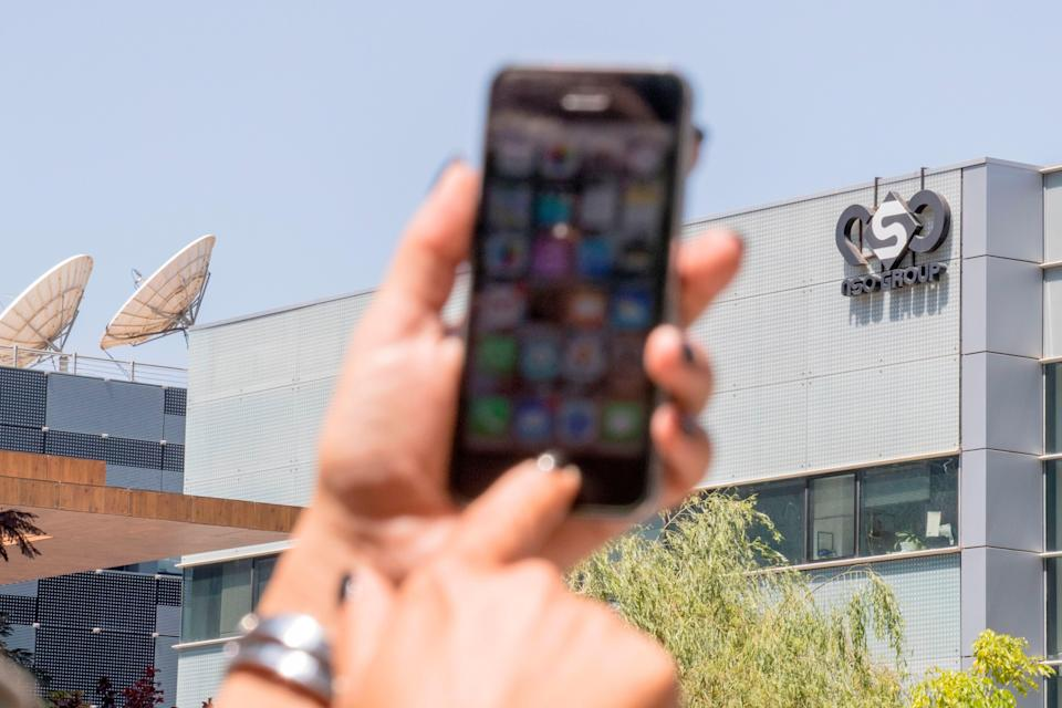 NSO Group's Pegasus spyware, licensed to governments around the globe, can infect phones without a click (AFP via Getty Images)