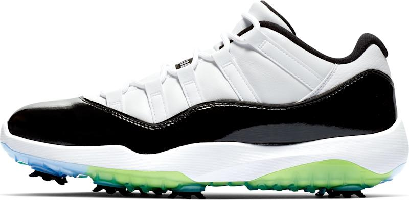 on sale 6fb1e b9036 The Nike Air Jordan 11 Concord golf shoe, inspired by its ...