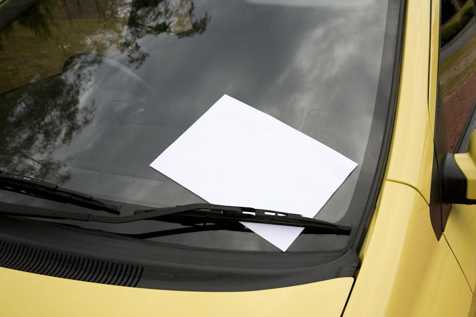 A note on someone's windshield