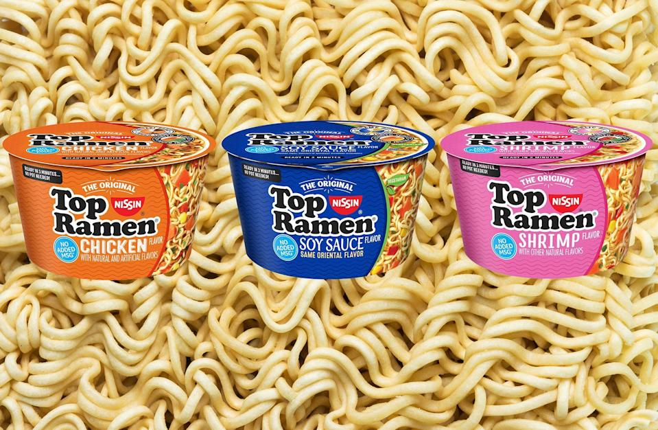 Instant ramen isn't a complicated dish to make, but it just got even easier. The college-kid staple has always offered a tasty, filling and quick meal, but now Nissin Foods is offering three flavors of its iconic Top Ramen pre-packed in microwavable bowls, ready to cook and eat.Things Your...