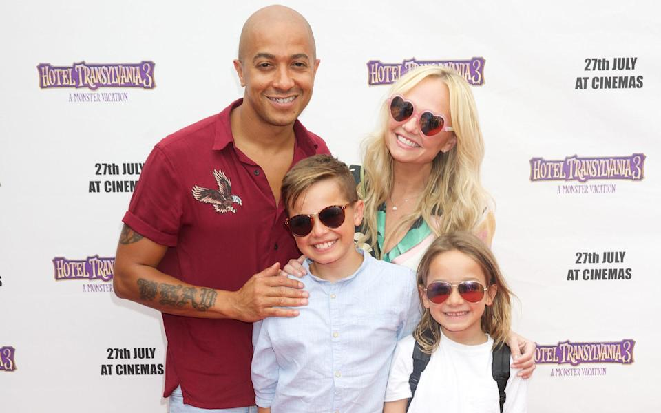 Emma Bunton and family attend a VIP family screening of Hotel Transylvania 3: A Monster Vacation