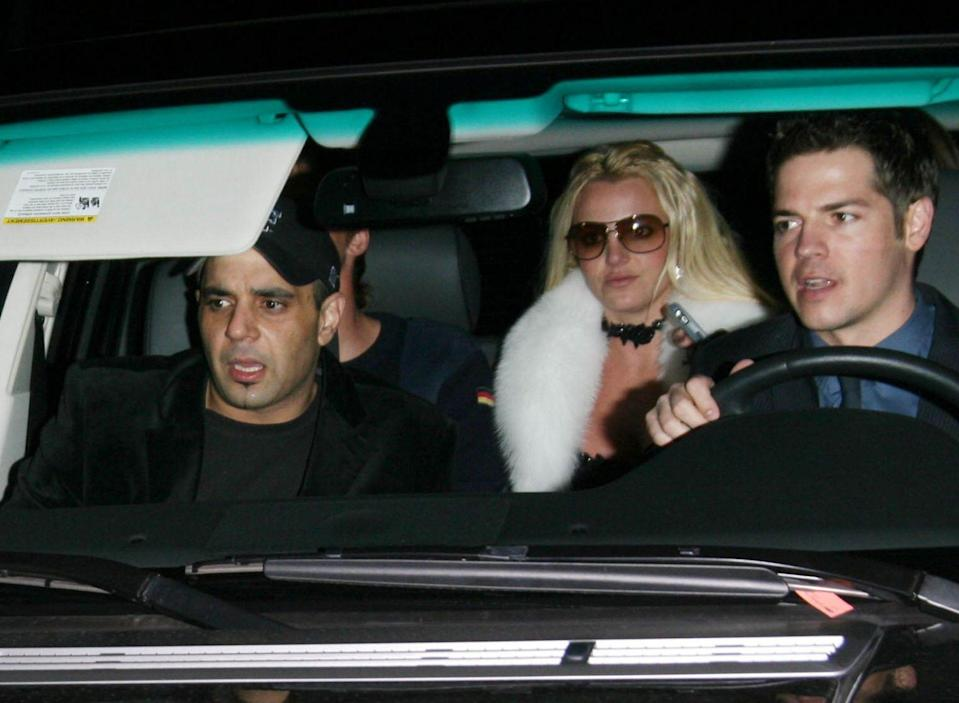 Mandatory Credit: Photo by Picture Perfect/Shutterstock (717613p)Britney Spears arrivingSharon Stone's Scandinavian Style Mansion Party, Bel Air, Los Angeles, America - 01 Dec 2007.