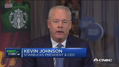 Kevin Johnson, Starbucks president & CEO, weighs in on the U.S. trade policy with China.