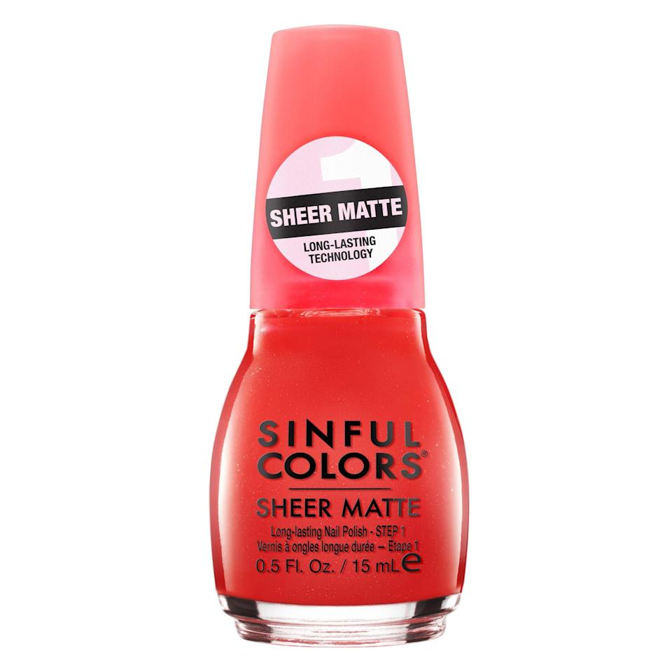 """The words """"sheer matte red"""" almost fail to make sense to the mind. To beauty brains, sheer reds are glossy by default. But there's just something so fun, so unexpected, so cherry-flavored-jellybean about subtracting shine from the equation, and Sinful Colors' Ruby Tutu executes the look perfectly."""