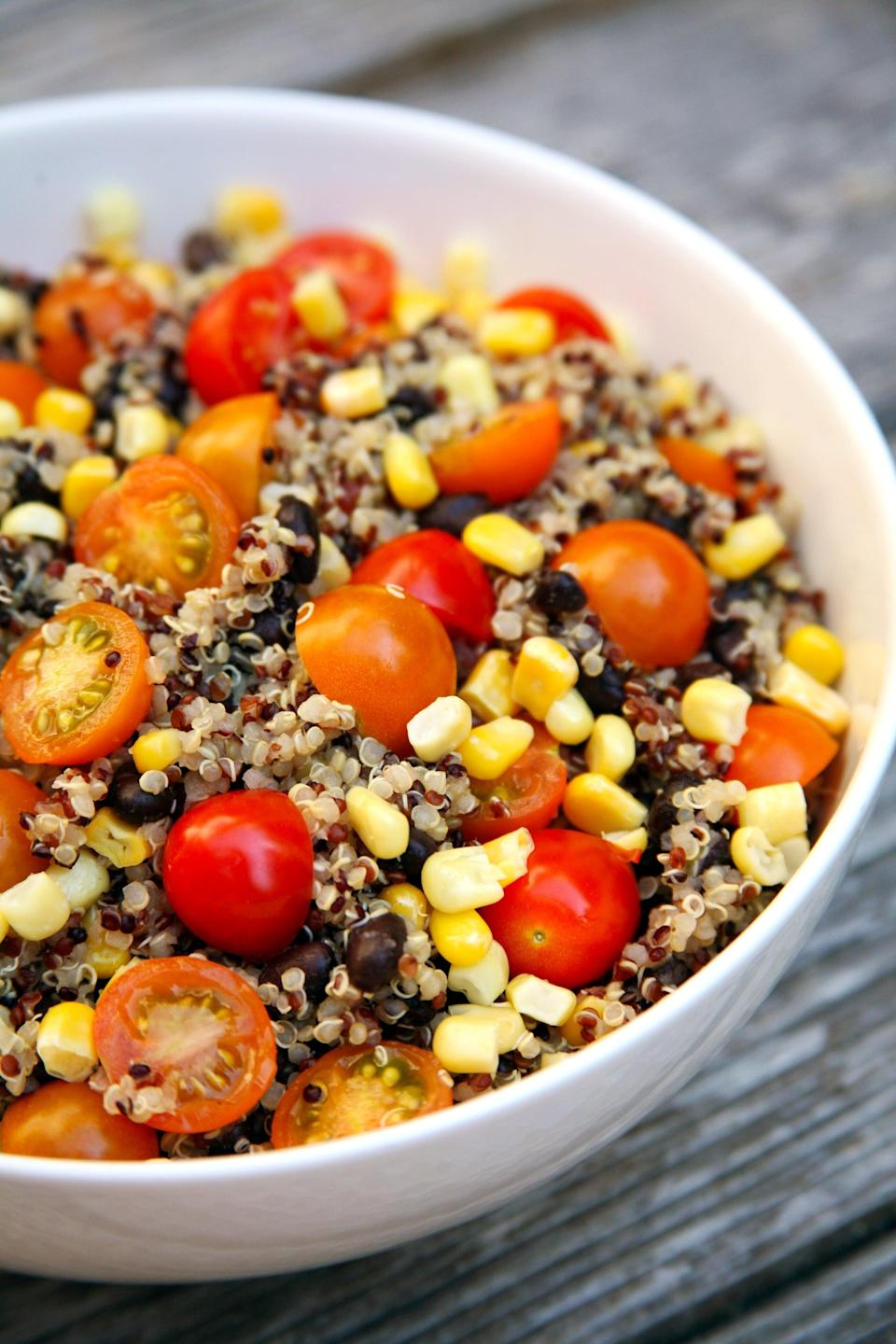 "<p>Whether you make extra for dinner and pack leftovers like soup, a crockpot meal, or this <a href=""https://www.popsugar.com/fitness/Quinoa-Black-Bean-Corn-Tomato-Salad-42299018"" class=""link rapid-noclick-resp"" rel=""nofollow noopener"" target=""_blank"" data-ylk=""slk:quinoa and black bean salad"">quinoa and black bean salad</a>, or you <a href=""https://www.popsugar.com/fitness/How-Make-Week-Mason-Jar-Salads-40885544"" class=""link rapid-noclick-resp"" rel=""nofollow noopener"" target=""_blank"" data-ylk=""slk:make five salads on Sunday night"">make five salads on Sunday night</a>, packing lunch ahead of time is less expensive than ordering out, healthier, and a great way to keep tabs on ingredients and portion sizes.</p>"