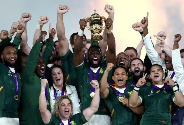 South Africa were crowned world champions in 2019