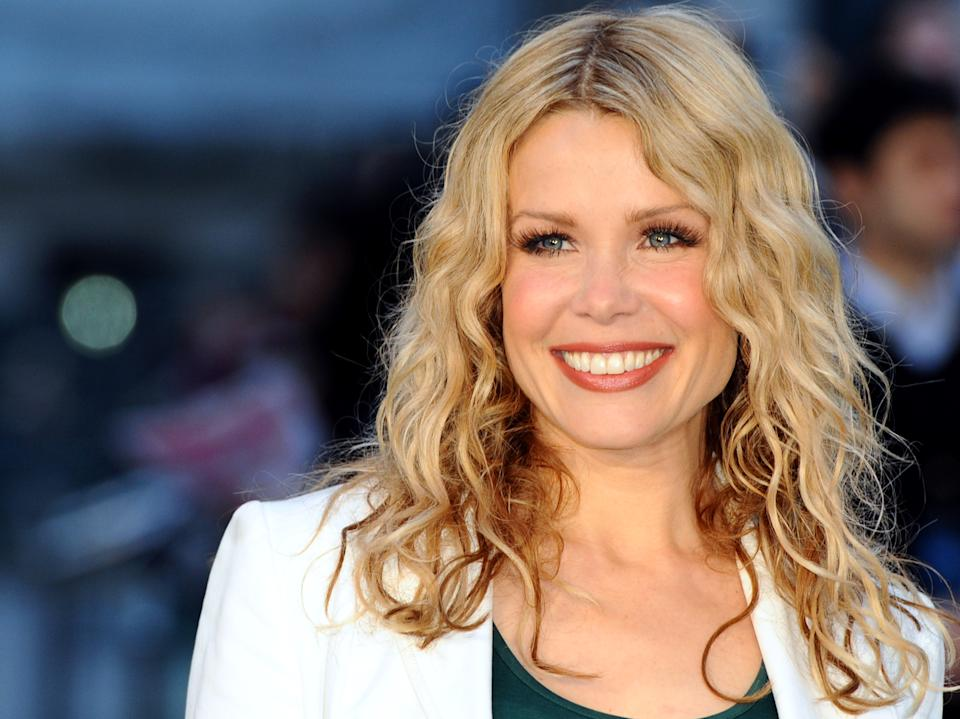 """Melinda Messenger attends the UK premiere of """"Noah"""" at Odeon Leicester Square on March 31, 2014 in London, England.  (Photo by Anthony Harvey/Getty Images)"""