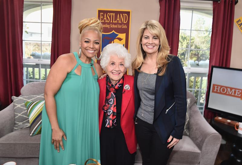 Actresses Kim Fields, left, Charlotte Rae and Lisa Whelchel attend Hallmark's Home and Family