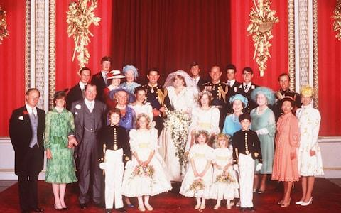 The wedding of Prince Charles and Princess Diana - Credit: Lord Lichfield