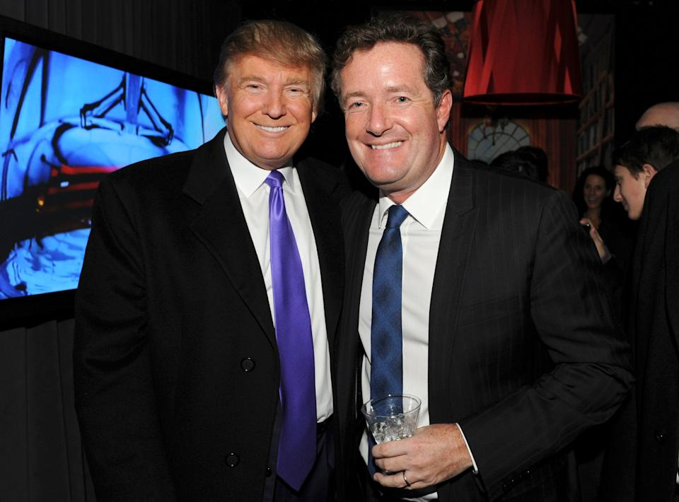 """Piers has been a vocal supporter of<a href=""""http://huffingtonpost.co.uk/news/donald-trump"""">Donald Trump</a>, both during his election campaign and subsequent presidency, having become friends years earlier on the US version of 'The Apprentice'.<br /><br />After the President faced criticism for the figures he has appointed to his Cabinet, including<a href=""""http://www.huffingtonpost.com/entry/steve-bannon-chief-strategist_us_5828e1d4e4b0c4b63b0d33d7"""">a chief strategist who has been labelled a white nationalist</a>and an Attorney General who was<a href=""""http://www.huffingtonpost.com/entry/trump-attorney-general-jeff-sessions-racist-remarks_us_582cd73ae4b099512f80c0c2"""">once judged too racist to be a federal judge</a>,<a href=""""http://www.huffingtonpost.co.uk/entry/piers-morgan-donald-trump-not-the-next-hitler-phone_uk_5833642fe4b09025ba3320b3?utm_hp_ref=piers-morgan"""">Piers defended him</a>by saying: """"I don't think he's the next Hitler. I don't think he's appointing a bunch of Nazis in his cabinet. I think he's a pragmatic business guy who played very hardball to get the Republication nomination."""""""