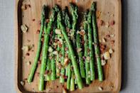 """<div class=""""caption-credit""""> Photo by: Sarah Shatz</div><div class=""""caption-title"""">Asparagus with Pancetta</div>A great method to cook asparagus is to saute them in oil or butter (or some combination thereof). They cook through quickly and retain all their flavor.That's what I do now. And so should you. - Amanda <br> <i><b><a rel=""""nofollow noopener"""" href=""""http://food52.com/recipes/11281_asparagus_with_pancetta"""" target=""""_blank"""" data-ylk=""""slk:Get the recipe"""" class=""""link rapid-noclick-resp"""">Get the recipe</a></b>.</i> <i><br></i>"""