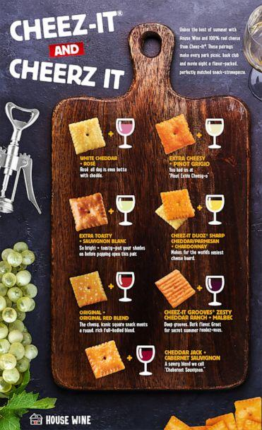 PHOTO: A pairing guide from House Wine and Cheez-It. (Cheez-It)
