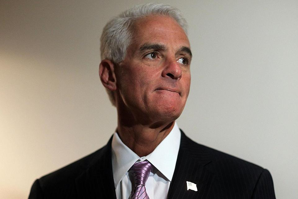 """<p><strong>Former governor of Florida and current Democratic congressman from Florida</strong></p> <p>Crist, who served as the governor of Florida from 2007 to 2011, was a Republican until 2012. He then switched parties and won a seat in the House of Representatives as a Democrat in 2016. </p> <p>""""Joe Biden's record of getting things done speaks for itself,"""" Crist said in a statement last year, according to <a href=""""https://www.tampabay.com/florida-politics/buzz/2019/09/19/charlie-crist-endorses-joe-biden-for-president/"""" rel=""""nofollow noopener"""" target=""""_blank"""" data-ylk=""""slk:the Tampa Bay Times."""" class=""""link rapid-noclick-resp"""">the<em> Tampa Bay Times</em>.</a> """"He has always put the American people above party lines and will continue to as President.""""</p>"""