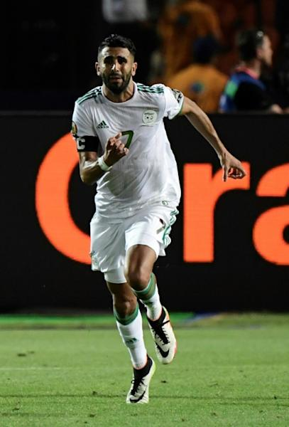 Manchester City forward Riyad Mahrez scored the winner to clinch Algeria's place in Friday's Africa Cup of Nations final (AFP Photo/JAVIER SORIANO)