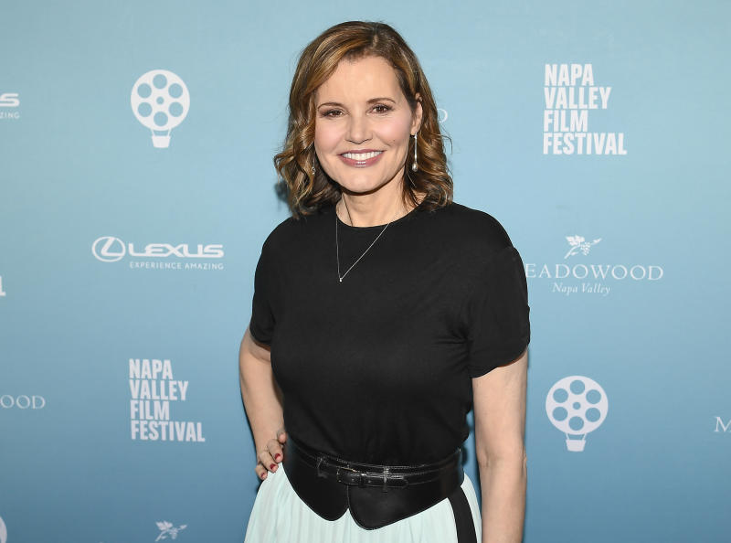 NAPA, CA - NOVEMBER 09: Actress Geena Davis attends the Napa Valley Film Festival to receive the Davis Estates Visionary Tribute on November 7, 2018 in Napa, California. (Photo by Steve Jennings/WireImage)