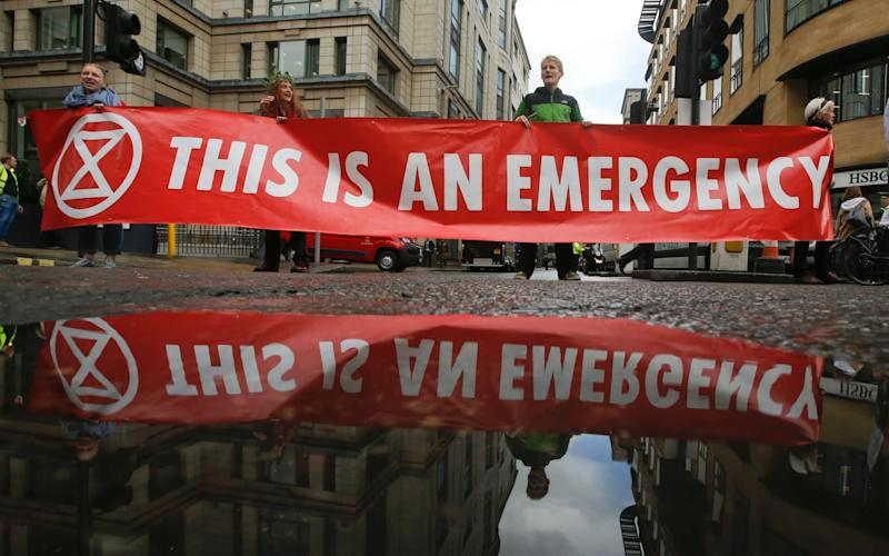 The Extinction Rebellion group brought parts of London to a halt in 2019 - Bloomberg