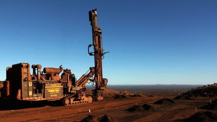 Drop recorded in mining exploration applications