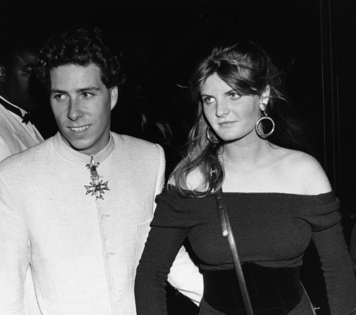 David Armstrong Jones, Viscount Linley, with socialite Susannah Constantine attending a party held by Lady Theresa Manners in London, June 27th 1985. (Photo by Dave Hogan/Getty Images)