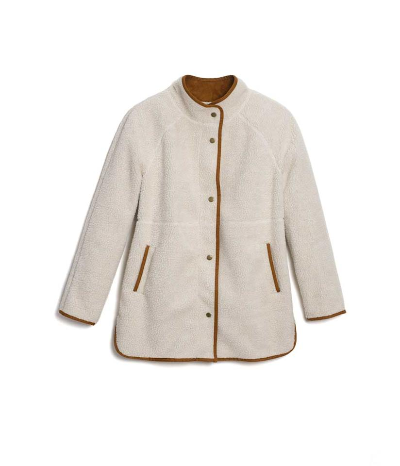 "<p>Long Sherpa Faux Suede-Lined Coat for Women, on sale for 40% off: $51 (was $85), <a rel=""nofollow"" href=""https://fave.co/2DrFFPl"">oldnavy.com</a> </p>"