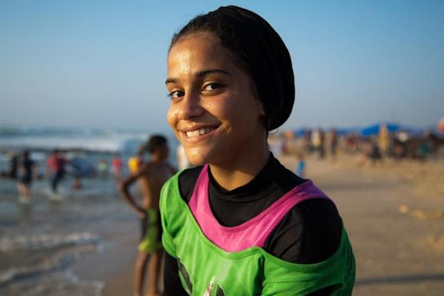 Meet the girl who dreams of being Gaza's first Olympic swimmer